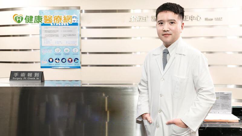 眼科診所院長王俊琪醫師說明SMILE全飛秒雷射手術